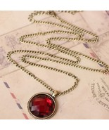 Faux Big Ruby Necklace - $4.99