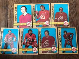 Lot of  7 Topps 1972-73 Atlanta Flames Hockey CardsKeith McCreary Bill P... - $19.79