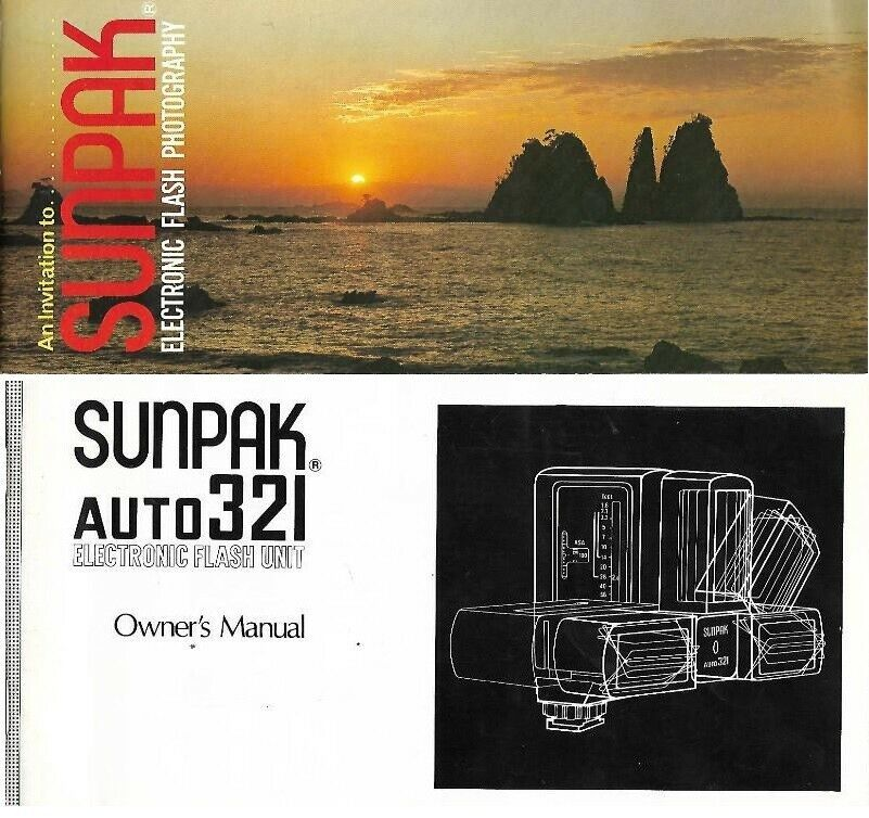 Primary image for Sunpak Auto 321 Electronic Flash Unit Owner's Manual & Product Guide 2 Booklets