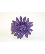 Leather cuff  Sun-Flower  Bracelets - $17.99