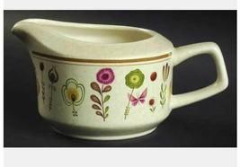 Creamer & Sugar Bowl w/:Lid Sprite by Lenox Temperware Tan, Flowers, But... - $27.10