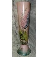 """Vintage G Sigo Artist Signed '64 Indiana Vase Floral Hyacinth 15"""" - $29.99"""
