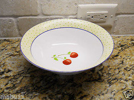 "Noble Excellence Cherries Jubilee 9 1/4"" Round Serving Bowl - $18.80"