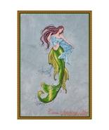 The Siren Of The Deep mermaid cross stitch chart Cross Stitching Art - $13.50