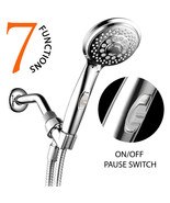 HotelSpa 7-Setting Spiral Handheld Shower Head w/ Patented ON / OFF Paus... - $24.99