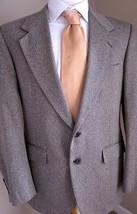 Evan Picone Blazer 38R Mens Gray Herringbone Tw... - $27.99