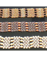 Handmade Cultured Pearl and Glass Bracelet select one - $21.99