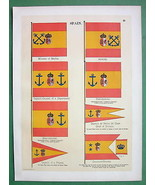SPAIN Frigate Captain Naval Flags Admiral Marin... - $15.15