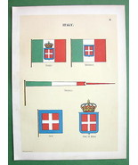 ITALY Naval Flags Jack Coast of Arms Pennant - ... - $15.15
