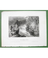 CANADA Montmorency River Stepping Falls - 1841 ... - $8.41