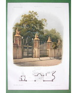 ARCHITECTURE PRINT COLOR 1860s : Germany Villa ... - $37.03