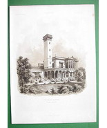 ARCHITECTURE PRINT 1860s : Germany View Villa o... - $37.03