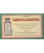 INK BLOTTER - 1900s  Caroid & Charcoal Tablets ... - $5.46