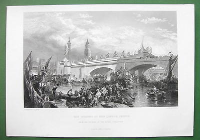 ARIZONA Lake Havsu City New London Bridge - SUPERB Antique Print