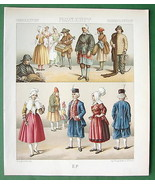 FRANCE Costume of Saone Region Natives - Color ... - $21.78