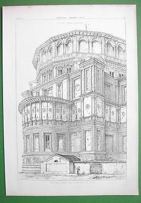 ARCHITECTURE PRINT : Italy Milan Apse of Santa Maria delle Grazie