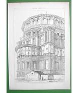 ARCHITECTURE PRINT : Italy Milan Apse of Santa ... - $31.68