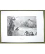 CANADA Split Rock St. John River - 1841 Engravi... - $8.41