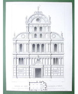 ARCHITECTURE PRINT : Italy Venice CHurch of Sai... - $21.78