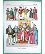 ENGLAND 16th C Costume Queen Elizabeth Knights ... - $21.78
