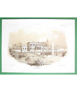 ARCHITECTURE PRINT 1860s : Germany Villa at Fra... - $37.03