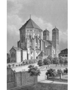 GERMANY Cologne Church of St. Gereon - 1860s An... - $33.66