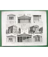 ITALY Roman Temples Rome Nimes Paestum etc - 18... - $15.84