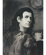 ORIGINAL ETCHING PRINT - Portrait of Young Man ... - $43.56