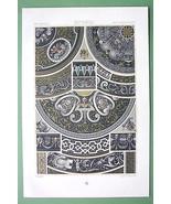 RENAISSANCE Limoges Enamels Grisailles- COLOR Litho Print by Racinet - $39.55