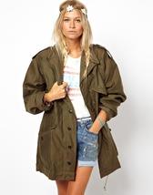 New 1980s Dutch army olive jacket coat parka military Netherlands khaki ... - $22.00