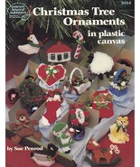 Christmas Tree Ornaments, Holiday Decor Plastic Canvas Pattern Booklet A... - $4.95