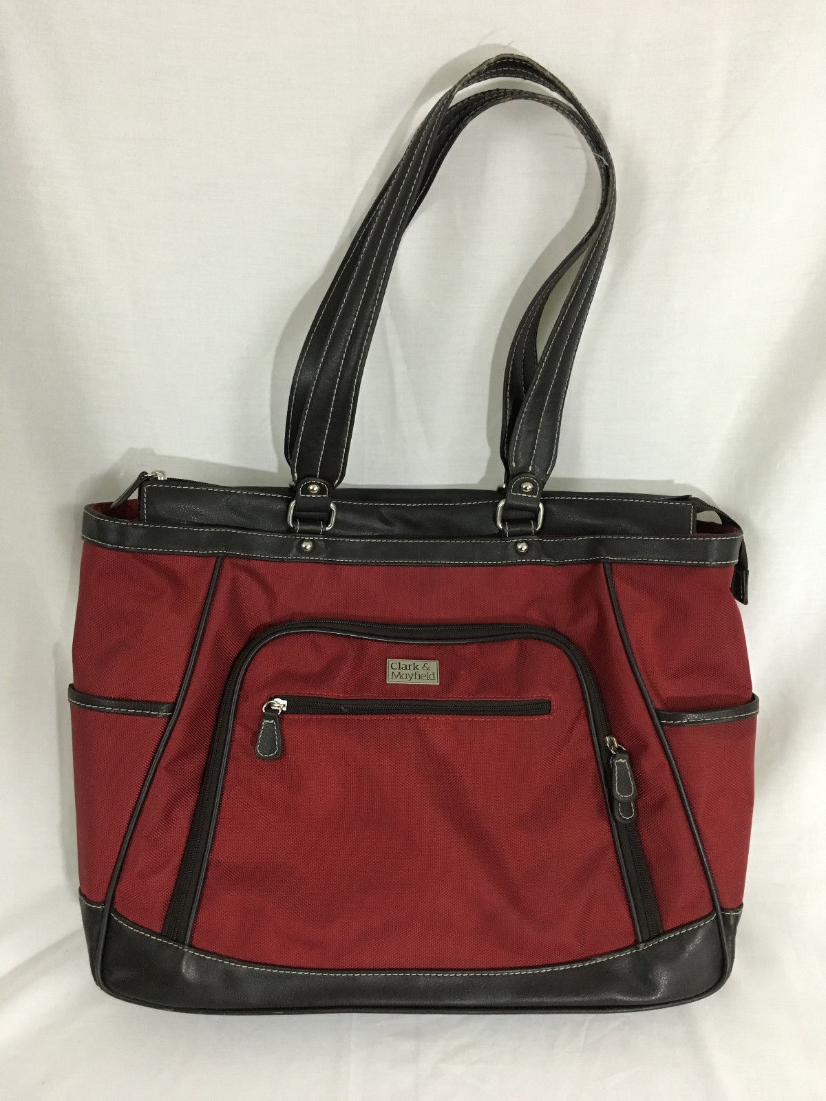 Clark & Mayfield Red 18 Inch Laptop Handbag Briefcase Tote - $49.99
