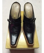 Women's Kammi Black Italian Shoes W/Original Box, Euro Size 37/US 6 - $39.99
