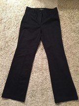 Talbots Petites Curvy Women's Black Cotton-Spandex Pants, Size 2P - $26.99