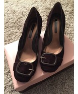 Women's Bandolino Brown Leather/Man Made Upper Heels, Size 6M, In Origin... - $32.50