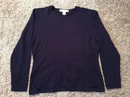 Women's Preston And York Merino Wool Blue Pullover Shirt/Sweater, Size M - $29.99