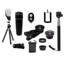 11 in 1 Smartphone Camera Lens Kit - Color: BLACK - $99.90