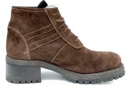 New HEROES CESARE PACIOTTI Combat Boots 37 US 6.5 Italy Brown Suede Womens - $46.28