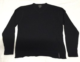Men's Ralph Lauren Polo Jean Co Black V-neck Wool Sweater, Size L - $35.99
