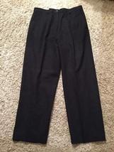 Women's Pendleton 100% Pure New Wool Dark Gray Dress Pants W/ Lining, Size 14 - $37.99
