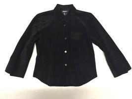 DKNY 100% Leather Button-up Shirt/Blazer, Size 4 - $49.99