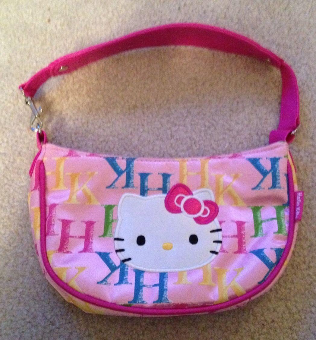 Sanrio Big Girls Hello Kitty Black Quilted Puffy Card Money Wallet w Zipper NWT