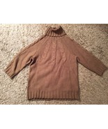Women's Gap Brown Turtleneck Sweater, Size L - $29.99