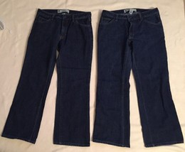 Lot Of 2 Gap Womens Boot Cut Jeans, Dark Blue, Size 8, Ankle - $35.00