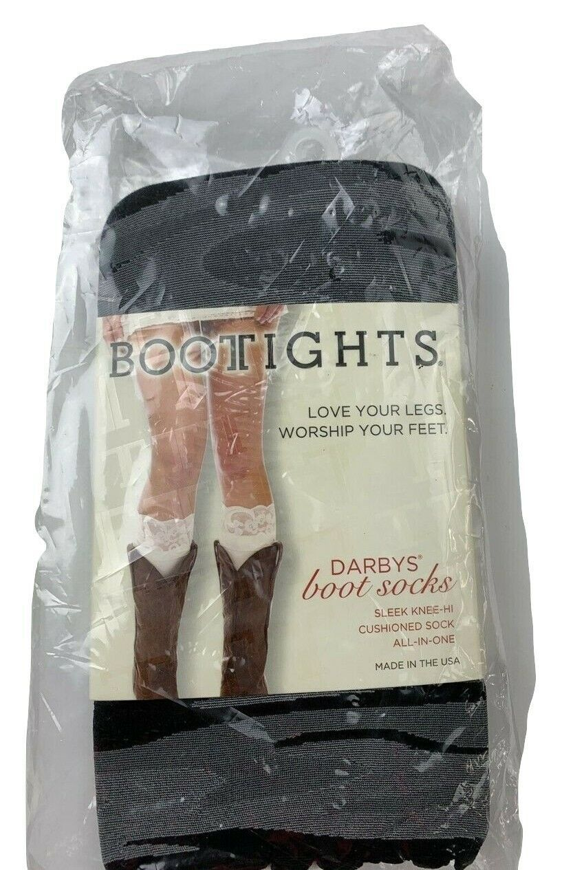 Primary image for Bootights Darbys Boot Socks Sleek Knee Hi Cushioned Socks All In One Gray 5-10.5