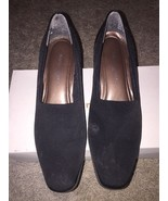 Naturalizer Soft Black Heel Shoes, Jeannie Black Fabric, Size 7M - $20.00