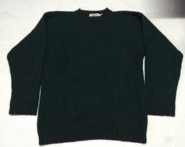 Eddie Bauer Legends Men's Green Crewneck 100% Wool Sweater, Size S/P - $29.99