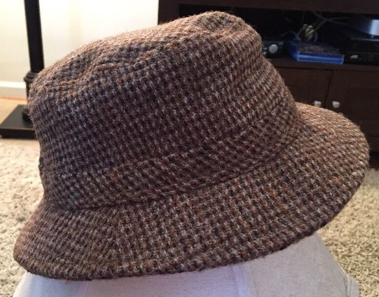 dcaf12e5161 S l1600. S l1600. Previous. LL Bean Harris Tweed Hand Woven 100% Scottish  Wool Gore-tex Hat