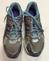Womens Size 9.5 ASICS Gel Running Shoes Gray/Purple/Teal, DUOMAX - $23.99