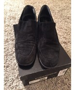 Women's Evan-Picone Q-Adair Black Suede Shoes, Size 8.5 AA, In Box, Ital... - $32.95